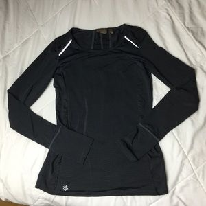 "Athleta ""Hurdle"" Gray longsleeve runners top XXS"